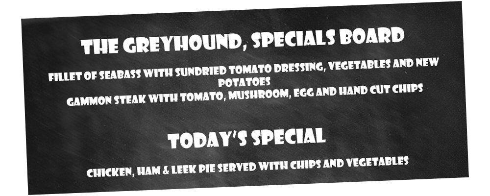 Specials Board at the Greyhound, Midhurst, West Sussex