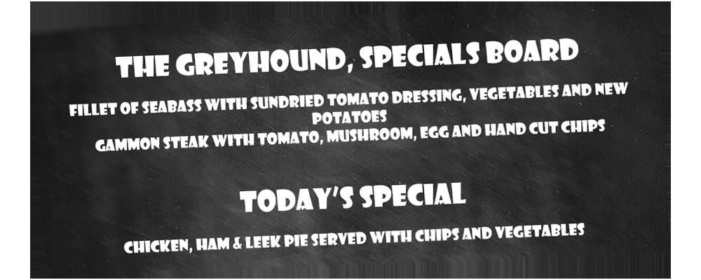 Specials Board at the Greyhound, Midhurst, West Sussex