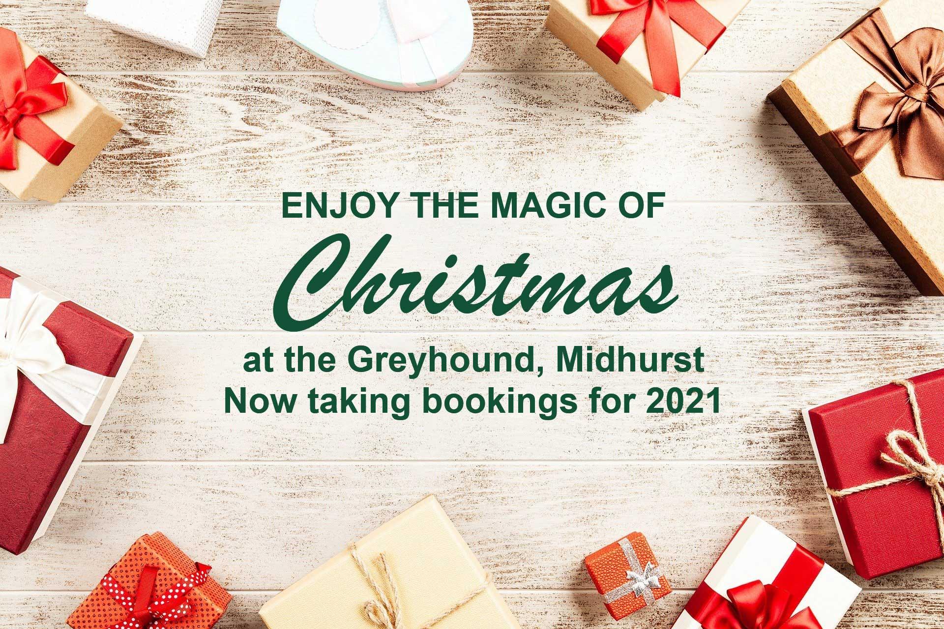 Enjoy the magic of Christmas at the Greyhound, Midhurst