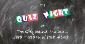It's Quiz Night at the Greyhound, Midhurst